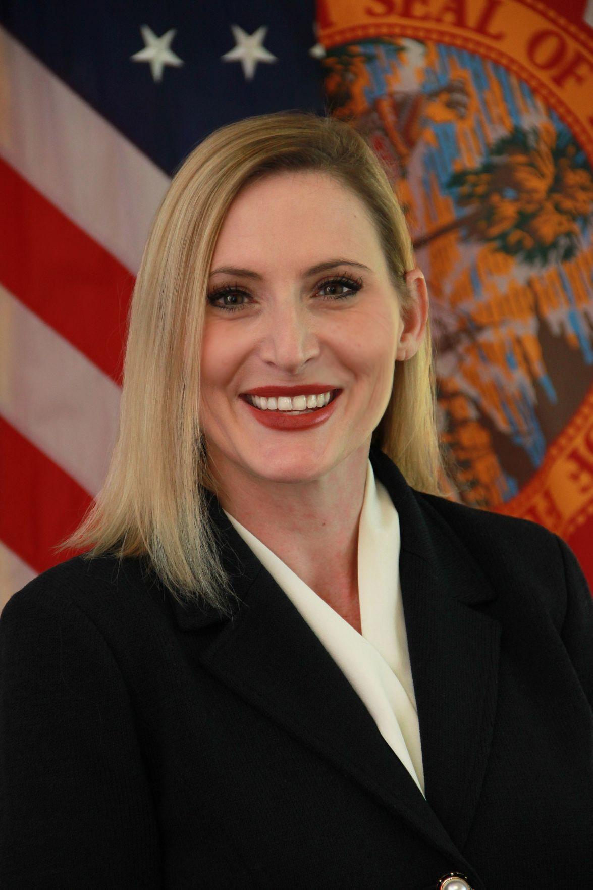 FILE - Florida Secretary of State Laurel Lee