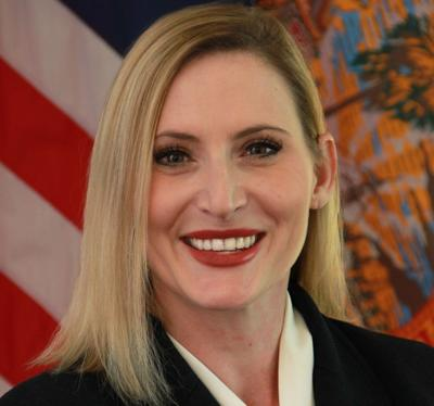 FILE - Florida Secretary of State Laurel Lee