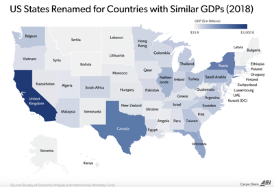 FILE - GDP map