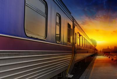 FILE - Passenger train