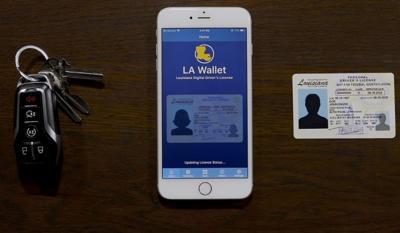 FILE - Digital driver's license LA Wallet