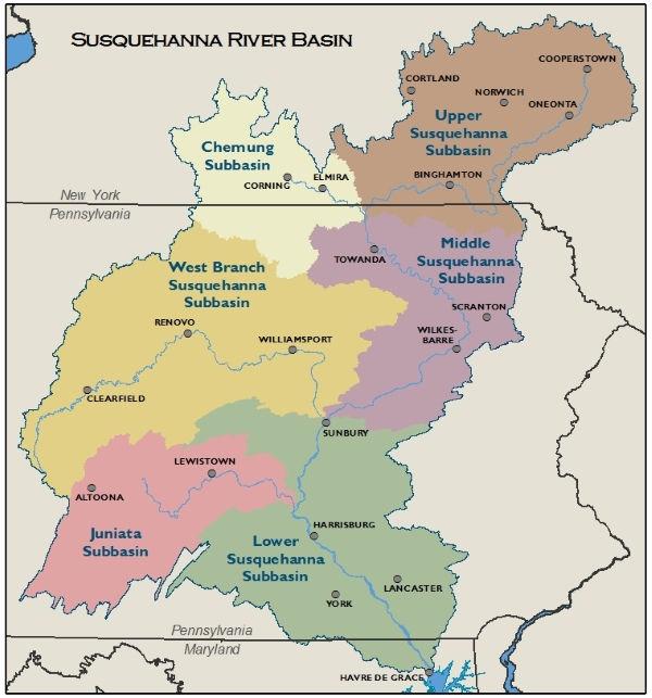 FILE Susquehanna River Basin Commission map