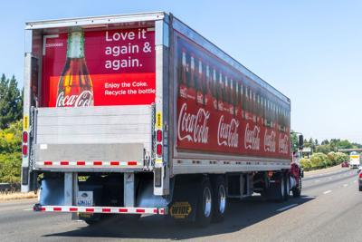 FILE– Coca-Cola truck