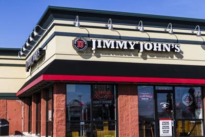 FILE - Jimmy John's franchise restaurant