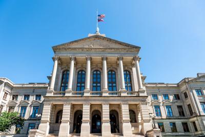 FILE - Georgia state capitol building