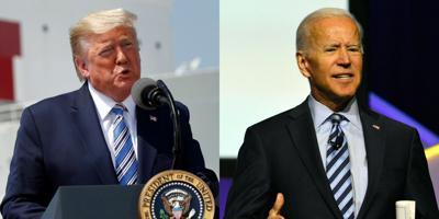 FILE - US Donald Trump, Joe Biden