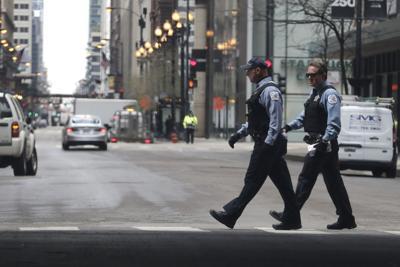 FILE - Police, Chicago, Virus Outbreak Illinois