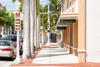 FILE - Fort Myers, Fla., downtown