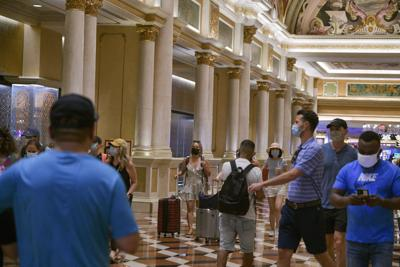 FILE - Indoor Mask Mandate In Las Vegas
