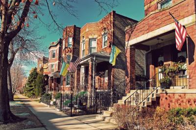 FILE - Chicago neighborhood, house, property taxes