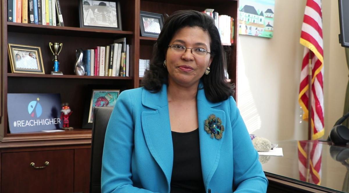 FILE - Louisiana Commissioner of Higher Education Kim Hunter Reed