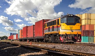 FILE - Freight train