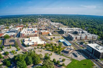 Aerial,View,Of,Overland,Park,,A,Suburb,Of,Kansas,City