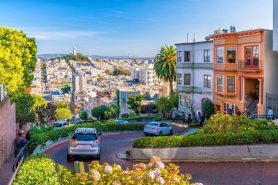 FILE - Lombard Street in San Francisco