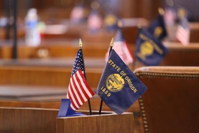 FILE —Oregon legislature desk