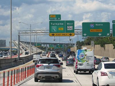 FILE - Interstate 95 north of Miami Florida
