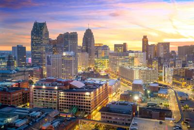 Detroit aerial view