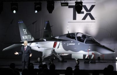 FILE - Boeing TX Trainer