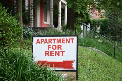 FILE – Apartment rental sign