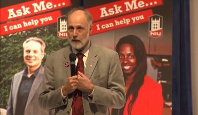 FILE - Ex-NIU President Doug Baker