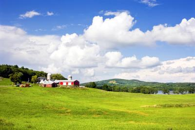 Maine farm stock photo