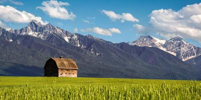 Barn,In,Pablo,Montana