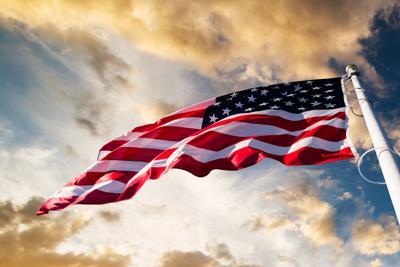 FILE - American flag