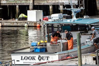 FILE - ME fishermen, harbor 7-12-2021
