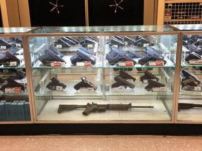 FILE - Gun store, gun shop, firearm sales, gun control