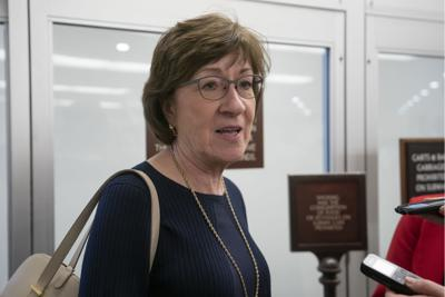 FILE - Maine U.S. Sen. Susan Collins