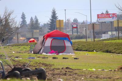 FILE —Oregon homeless tent