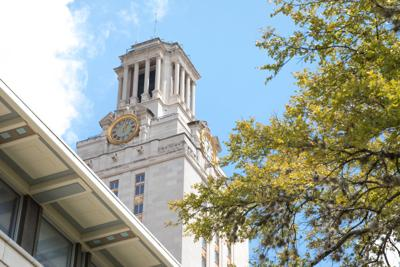 FILE - University of Texas clock tower