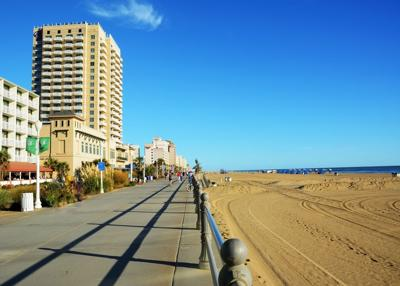 FILE - Virginia Beach boardwalk