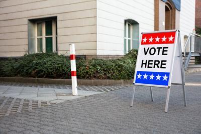 Polling place ballot box