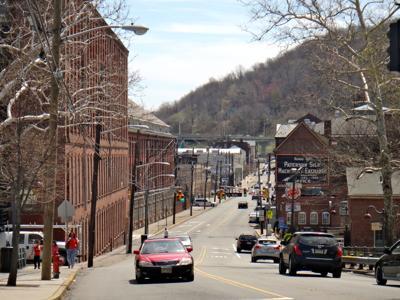 FILE - NJ Paterson, downtown 4-18-2015
