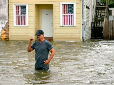 FILE - LA Tropical Storm Barry