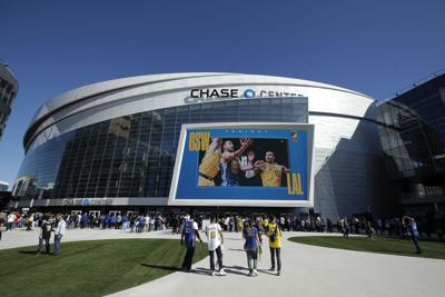 FILE - Chase Center Lakers Warriors Basketball