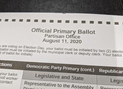 August 2020 primary ballot