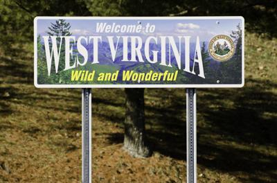 FILE - West Virginia welcome sign
