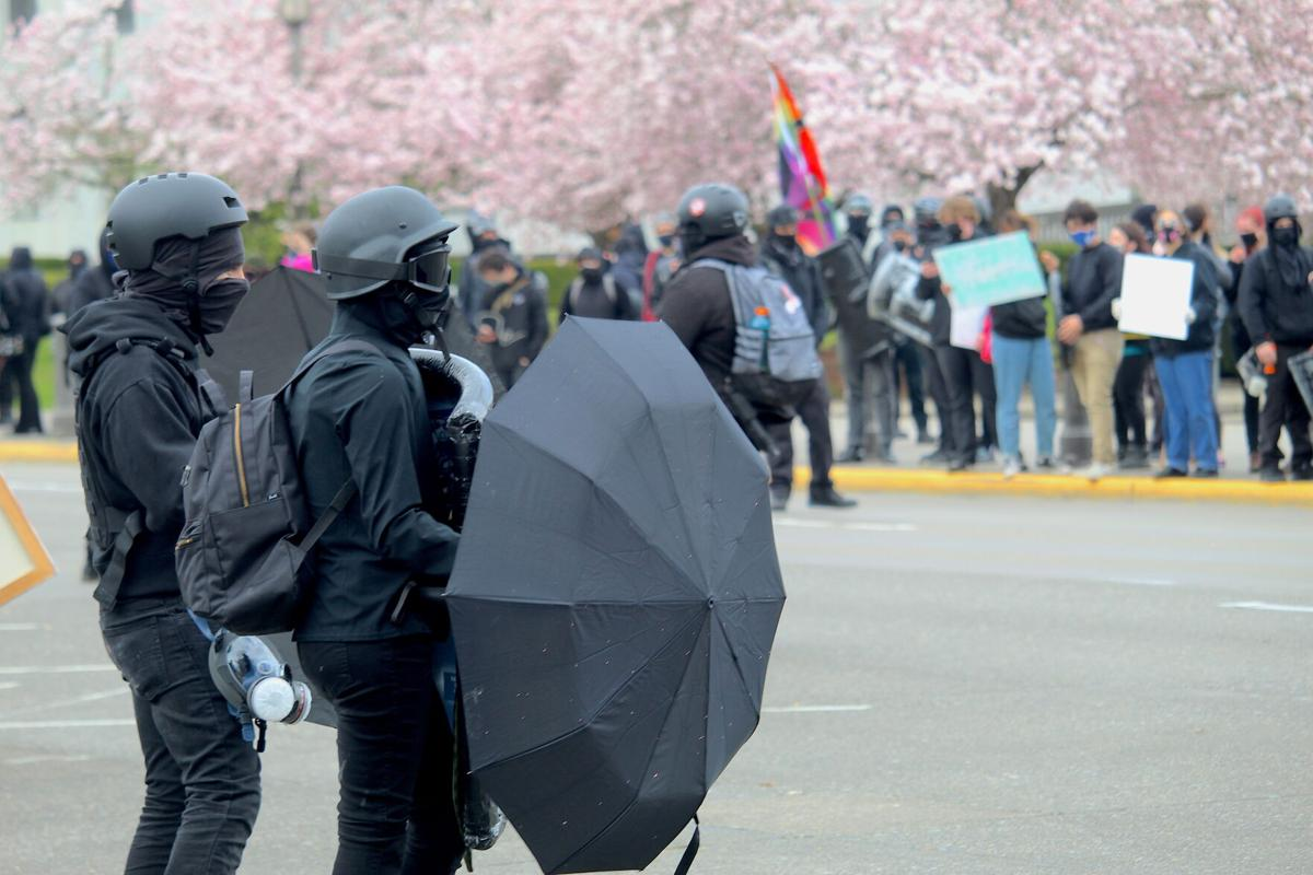 FILE — Oregon state Capitol anti-fascist protest