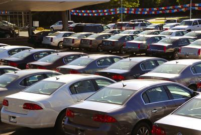 FILE - New Cars, Car Dealer, Auto Shop