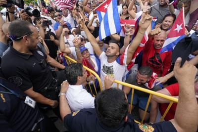 APTOPIX Cuba Protests Miami