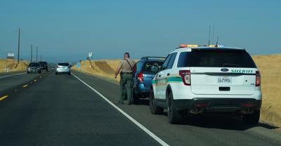 FILE - police, traffic stop