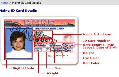 FILE - Maine Real ID card
