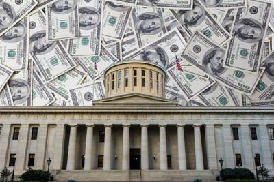 Ohio capitol money background
