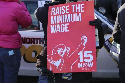 FILE - $15 minimum wage
