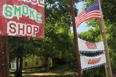 FILE - Smoke Shop Beer Liquor Texas