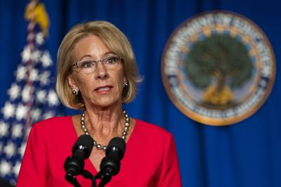 FILE - Education Secretary Betsy DeVos