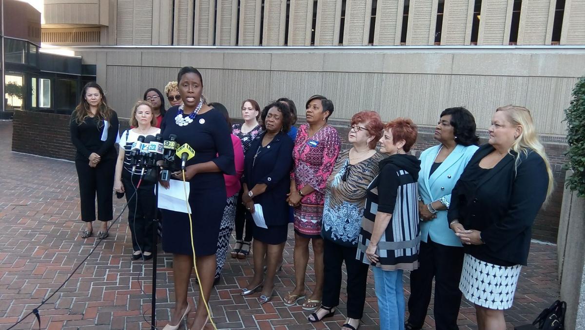 Katrina Jackson, Gov. Edwards supporters