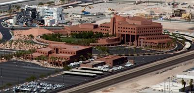 FILE - Clark County Government Center, Las Vegas, NV